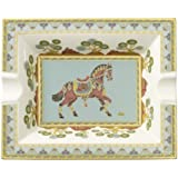 Villeroy & Boch 21cm x 17cm Ascher Samarkand aus Premium Bone Porzellan Farbe: Aquamarin