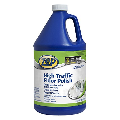 Zep High Traffic Floor Polish 128 Ounce ZUHTFF128 (Slip Wax Floor)