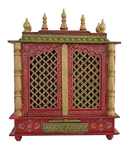 Jaipur Lane Wooden Pooja Mandap/Home Temple (60 cm x 30 cm x 75 cm, Temple 053)