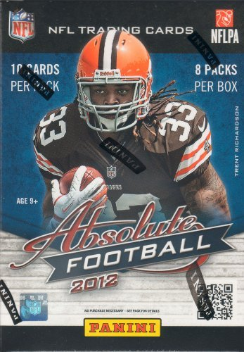 (2012 Panini Absolute NFL Football Series Unopened Blaster Box of Packs Possible Autographed Rookie Jersey Cards of Andrew Luck, Robert Griffin, Russell Wilson, Nick Foles and More!)