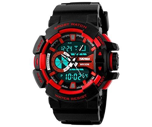 Skmei Analog Digital Black Dial Men's Watch   1117 Red