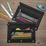 Sooez Binder Pouch,Pencil Pouch 3 Ring Fabric
