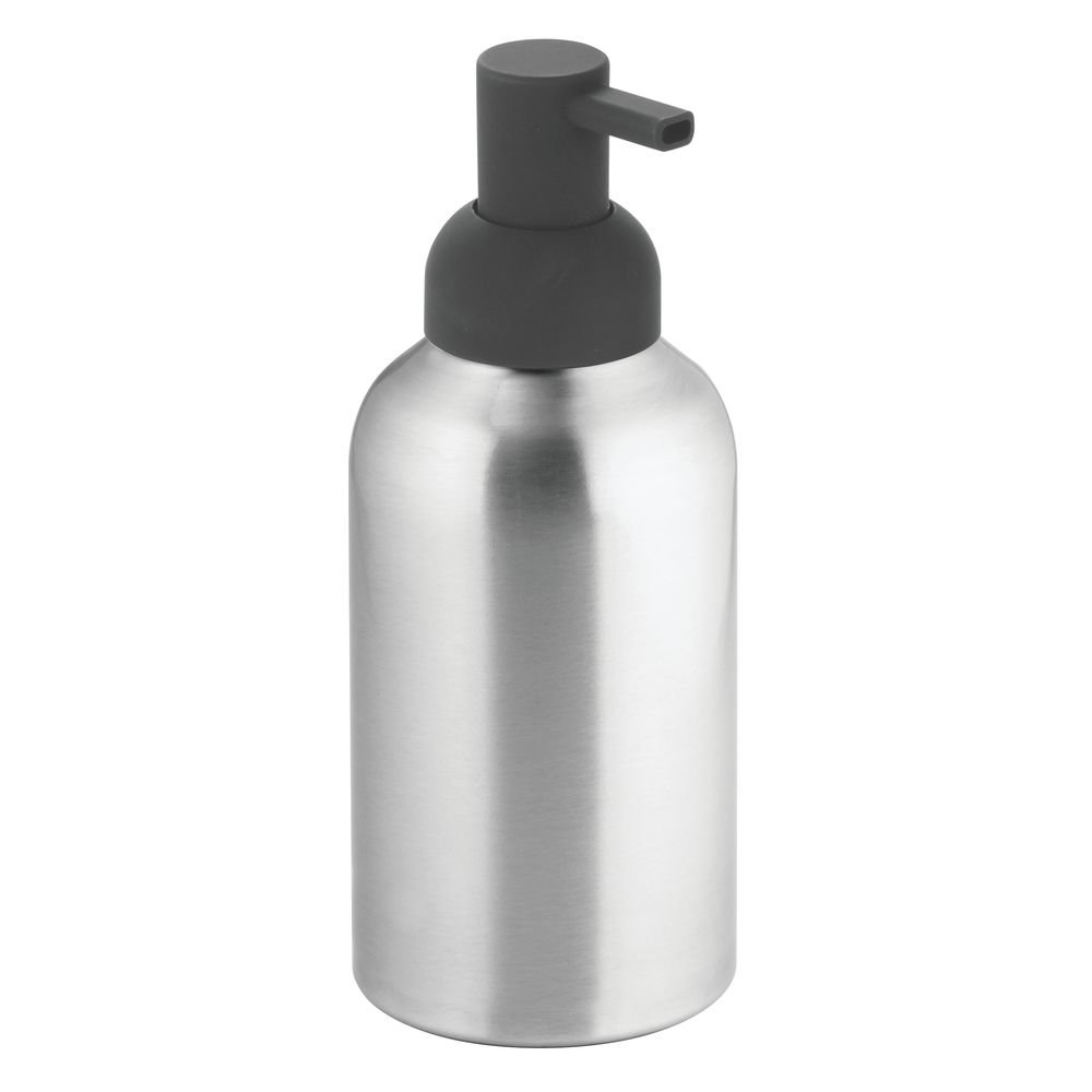 InterDesign Metro Rustproof Aluminum Soap Dispenser Pump, for Kitchen or Bathroom - Tall, Brushed/Matte Charcoal Inc. 50617