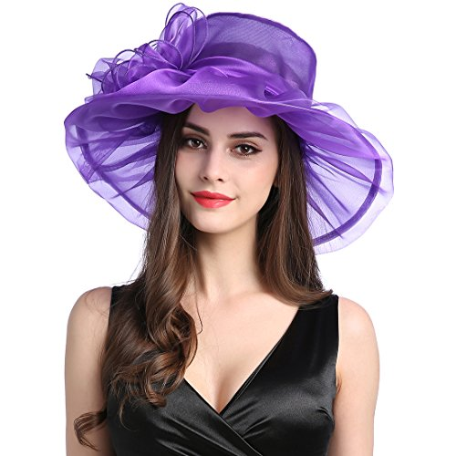MissCynthia Women's Organza Church Kentucky Derby Fascinator Tea Party Wedding Hat