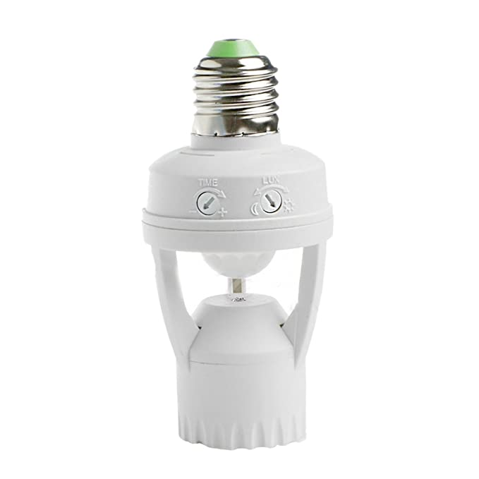 E27 Lámpara Soporte de Luz Bulbo Cambiar PIR Infrarrojos AC110V Sensor de Movimiento 220v: Amazon.es: Bricolaje y herramientas