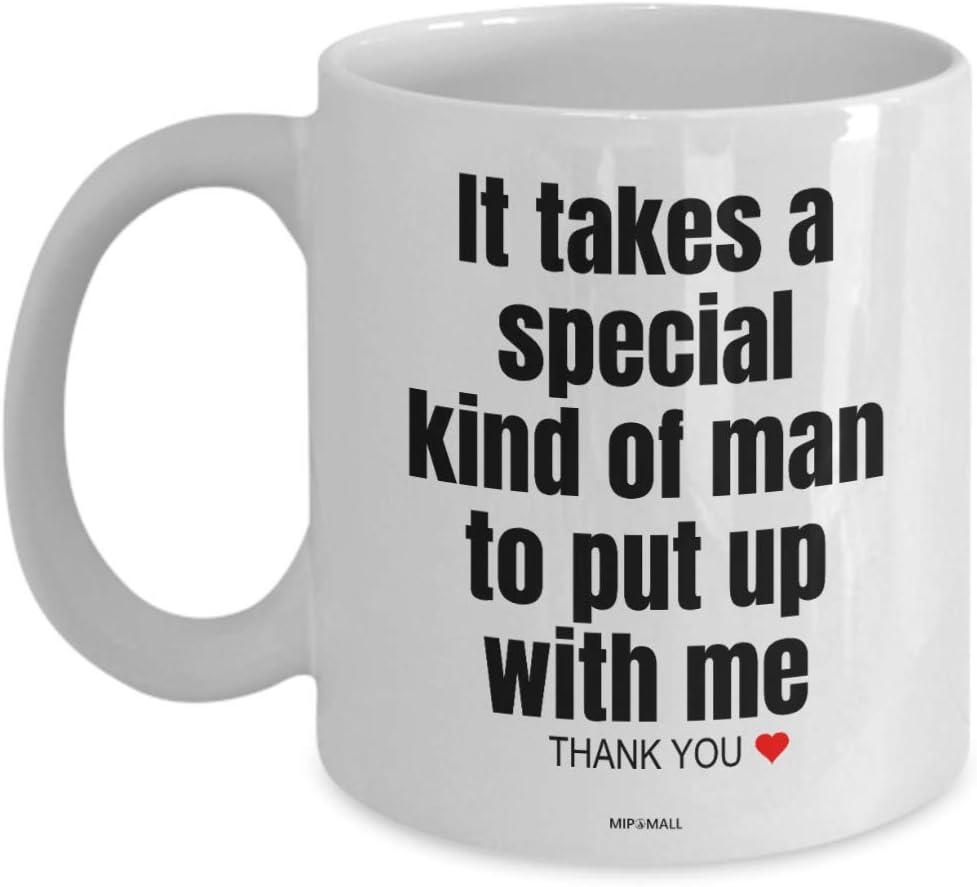 MIPOMALL Regalo de aniversario para él [Hombre], marido socio prometido novio relación, taza de té, regalo de Navidad 3366 (11oz) Blanco