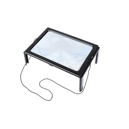 LULUDP Lupa Lupa con luz LED, Lupa, Mesa de Lectura de Espejo ...