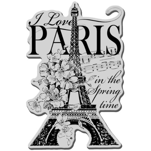 Stampendous Cling Rubber Stamp Sheet, 5.5 by 4.5-Inch, I Love Paris -