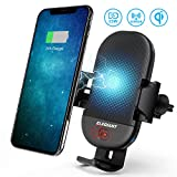 Wireless Car Charger Mount, ELEGIANT Qi Fast Wireless Charger Air Vent Phone Holder with IR Induction Automatic Clamping 15W Max for Galaxy S9/S9+,S8/S8+,S7/S7 Edge,Note 9/8 and Qi Capable Devices