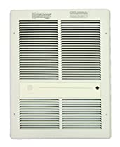 TPI F3317RPW Series 3310 Fan Forced Wall Heater Without Summer Fan Switch, Without an in-Built Thermostat, White, 23 Amps, 4800W