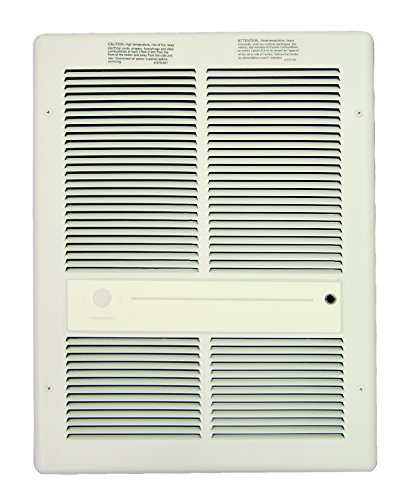 - TPI Corporation HF3315T2RPW Fan Forced Wall Heater, Built-in Double Pole Thermostat, 240/208 Volts, 3000/2250 Watts, All Metal Construction, White