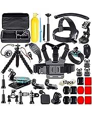 Zubehör für Gopro, Soft Digits Aktualisierung 50-in-1 Action-Kamera Zubehör Kit für Gopro Hero 7 Hero 6 5 4 3+ 3 2 1 Rollei Apeman und die meisten Sportkameras.