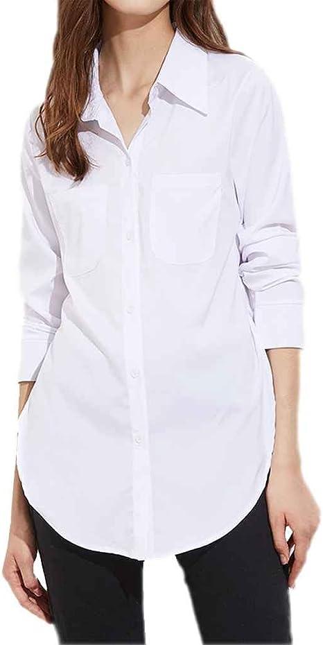Chilie Blusa blanca dividida lateral de la calle alta de las mujeres ...