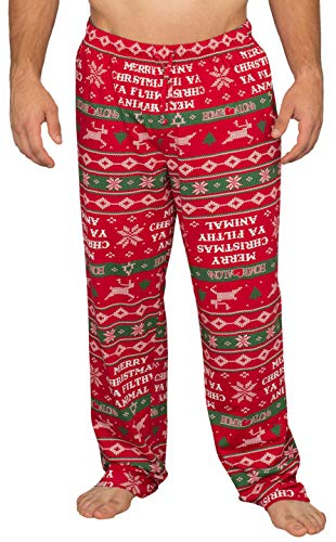- Home Alone Merry Christmas Ya Filthy Animal Lounge Pants (Adult X-Large) Red