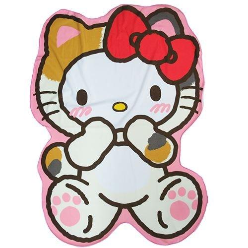 헬로 키티 다이 컷 모 포 태 비 무늬 / Hello Kitty Die Cut Towel Ket Three Hair Cat Pattern