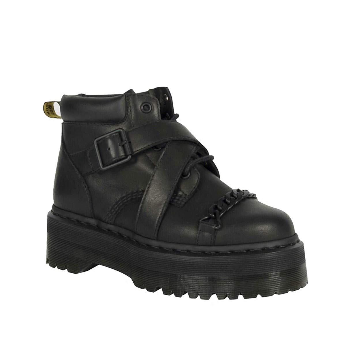 SIKESONG Décoration De Chaîne en Métal Et des Mesdames Femmes Boots Cool Plate-Forme Haute Mesdames des Martin Bottes Femmes Chaussures De Plate-Forme De Boucle 40 Que show 21a6b4
