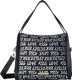 Betsey Johnson Women's Jacquard Logo Hobo Black One Size