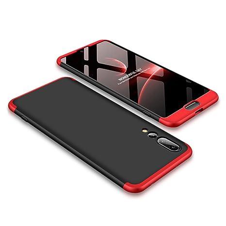 Funda para Huawei P20 Pro, Bigcousin Funda 360 grados Protección Ultra Slim Cubierta PC Hard Case + Cristal Templado ,3 in 1 Carcasa Case Cover para ...