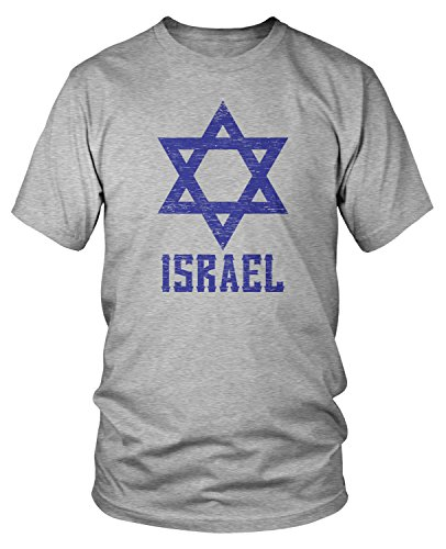 Jerusalem Wash Cup - Amdesco Men's Israel Star of David, Israeli Pride T-Shirt, Heather Gray XL
