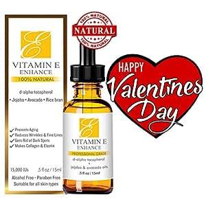 Amazon.com : 100% Natural & Organic Vitamin E Oil For Your