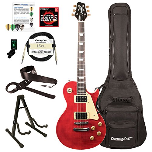 Sawtooth ST-H58S-CHYFL-KIT-1 Heritage Series Maple Top Electric Guitar, Cherry Flame