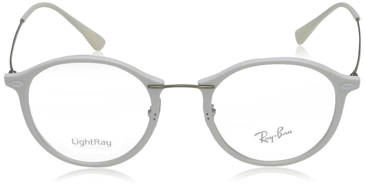 a243649a164 Amazon.com  Ray-Ban RX7073 Eyeglasses Shiny White 49mm  Shoes