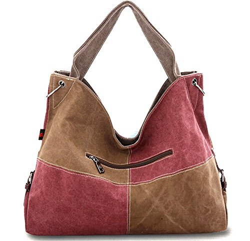 Handbag Shoulder Blue Contrast KISS Canvas Casual TM Color Women's Tote Hobo GOLD Bag amp;khaki 6xqTzF