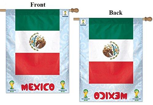 2014 World Cup Flag Team Mexico Soccer FIFA Vertical House Banner 27x37