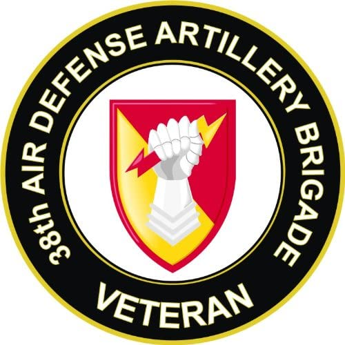 "38th Air Defense Artillery Brigade Veteran 5.5/"" Sticker /'Officially Licensed/'"