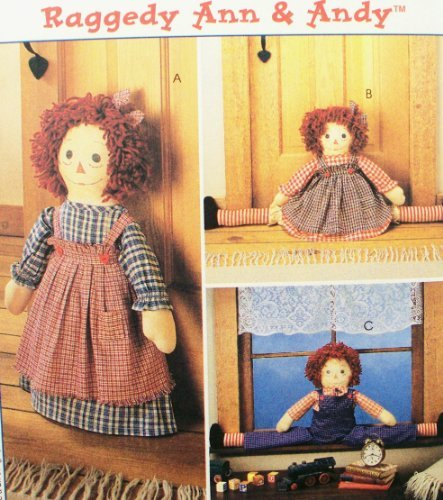 - OOP McCall's Craft Pattern 8708. Raggedy Ann & Andy Draftbusters & Doorstop. Dolls