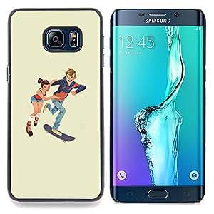 SKCASE Center / Funda Carcasa protectora - Patinaje niños;;;;;;;; - Samsung Galaxy S6 Edge Plus / S6 Edge+ G928