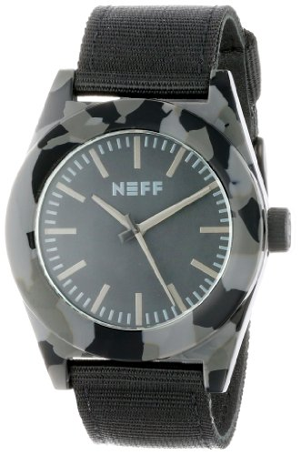 artz Stainless Steel and Nylon Casual Watch, Color:Black (Model: NF0213-camo) ()