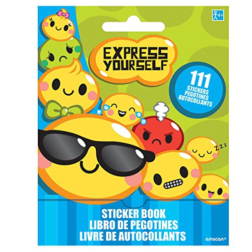 Amscan Express Yourself Sticker Booklet Book Childrens Decorative Multicolor 150424//ACL