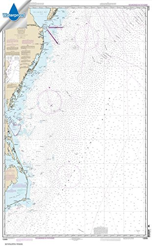 Paradise Cay Publications NOAA Chart 12200: Cape May to Cape Hatteras 32.6 x 52.6 (WATERPROOF)