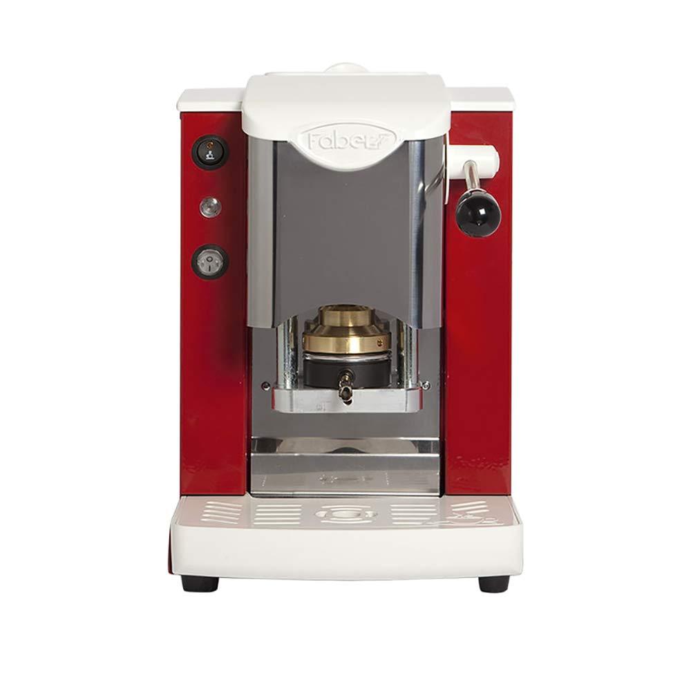 MACCHINA CAFFE A CIALDE IN CARTA ESE 44MM FABER SLOT INOX COLORE ROSSA faber italia