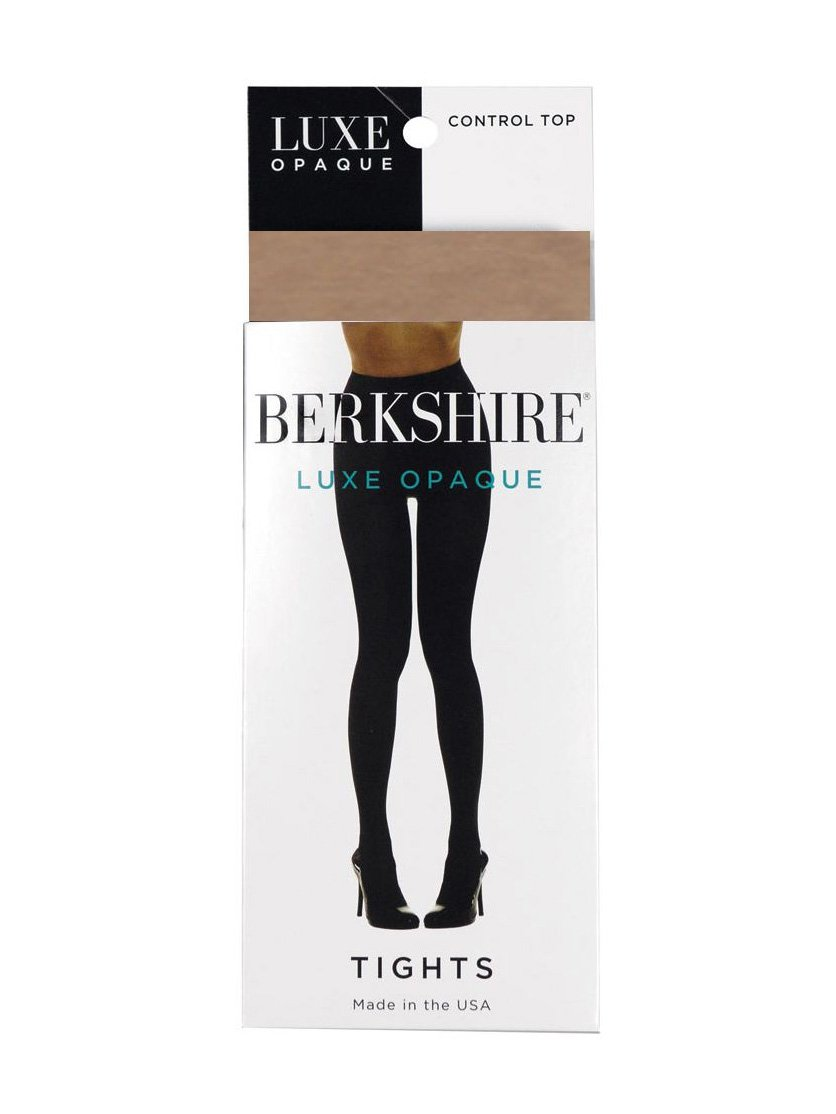 Berkshire Women's Plus-Size Luxe Opaque Control Top Tights 4741, Nude, 1X-2X