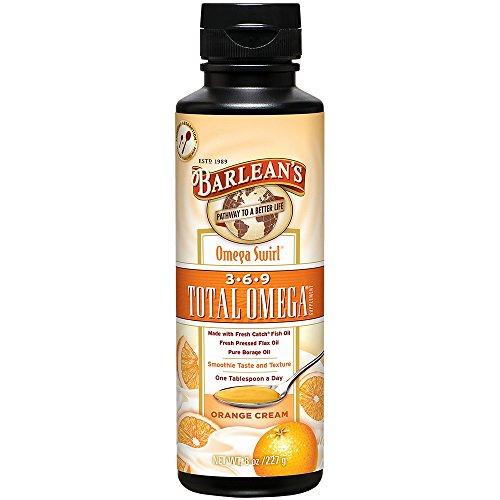 Flavor Fish Oil Orange (Barlean's Total Omega Swirl, Orange Cream, 8-oz)