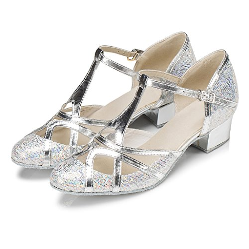 Shoes Ballrom Evening Wedding Shoes Silver Glitter csm Salsa Dance Dance Modern Womens Closed Tango Meijili Latin Toe gqOPzwz7