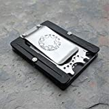 MultiWallet Large Toolcard Carbon Pocket Gadget Edition. Holstex EDC Tactical Wallet. Multi tool and money clip.