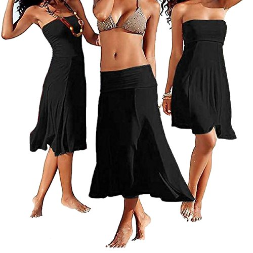 Beachwear Cover Long up Styles In 1 Summer Strapless Bohemian Dress Party Beach 4 Or Sodacoda Skirt YqBwnz5