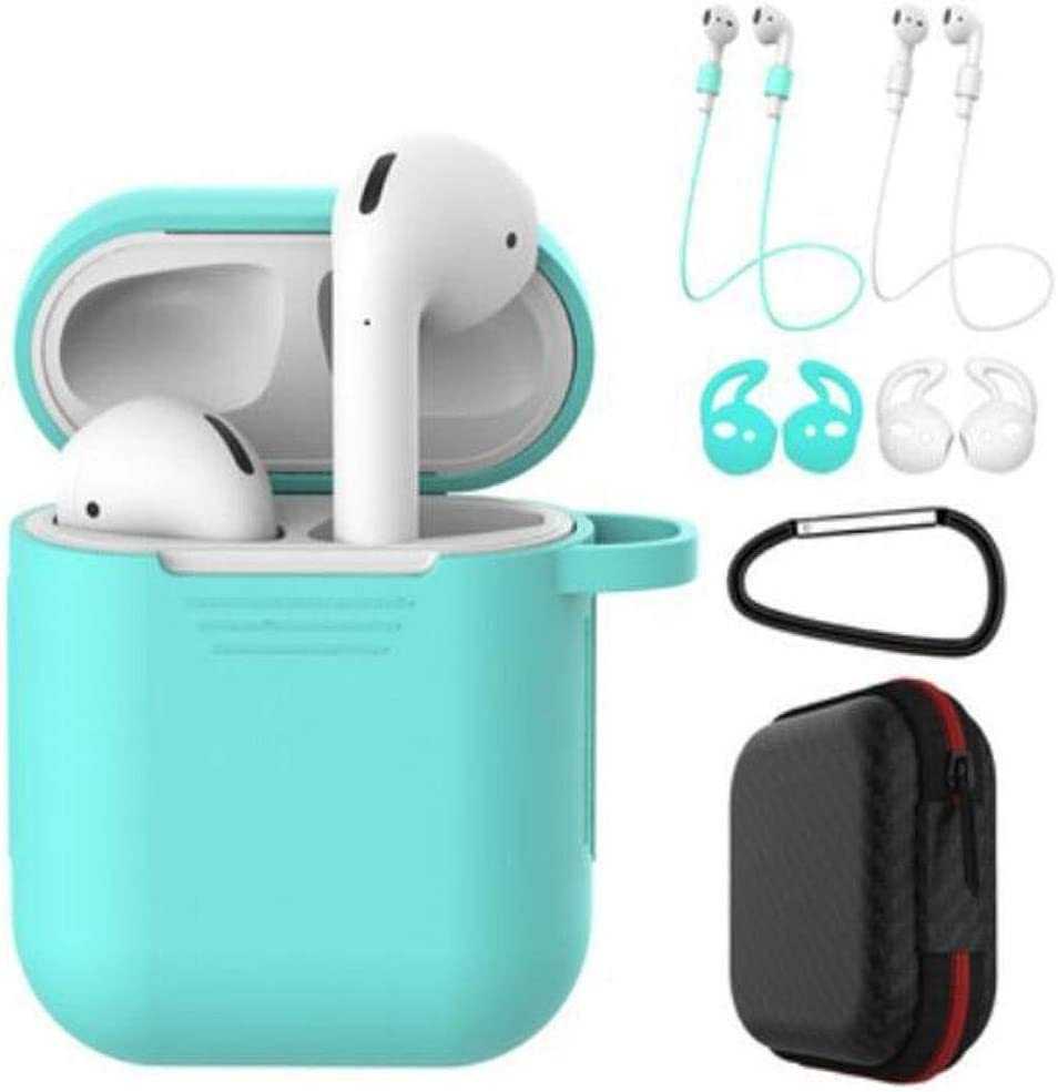 Color : Mint Green RENKUNDE Wireless Bluetooth Headset Storage Box Headphone Cover Silicone Case Gift 7 Piece Set 7 Colors Available Wireless Bluetooth Headset
