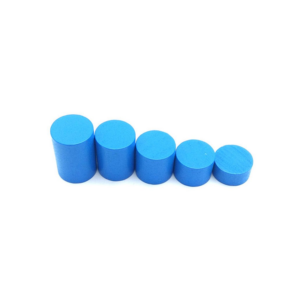 Baoblaze Wooden Montessori Knobless Cylinders Family Set & Arch ...