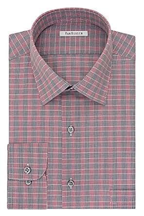 Van heusen men 39 s regular fit plaid spread collar dress for Van heusen plaid shirts
