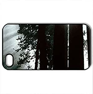 rays of yosemite vally - Case Cover for iPhone 4 and 4s (Amusement Parks Series, Watercolor style, Black)