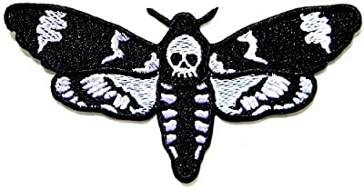 Skull Butterfly Dead Logo Biker Lady Rider Hippie Punk Rock Heavy Metal Tatoo Jacket T-shirt Patch Sew Iron on Embroidered Sign Badge