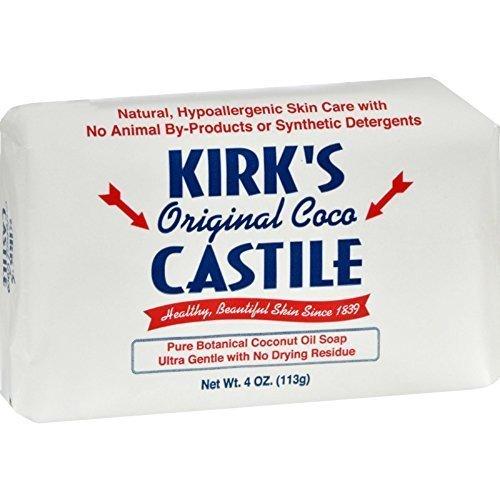 Natural Castile Bar Soap - Kirk's Castile Natural Coco Bar Soap 4oz - 5 Pack