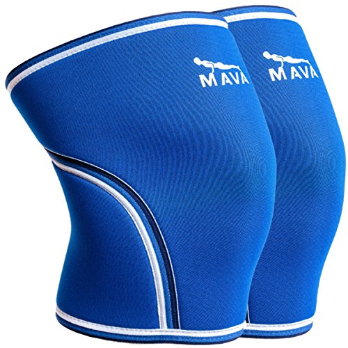 Mava Knee Wraps for Support and Stability for Prevention & Reduction of Stiff Muscles & Joints - for (Weight Lifting Knee Support)