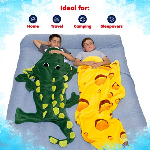 Silver Lilly Crocodile Blanket – Plush Animal Tail Sleeping Bag Blanket for Kids