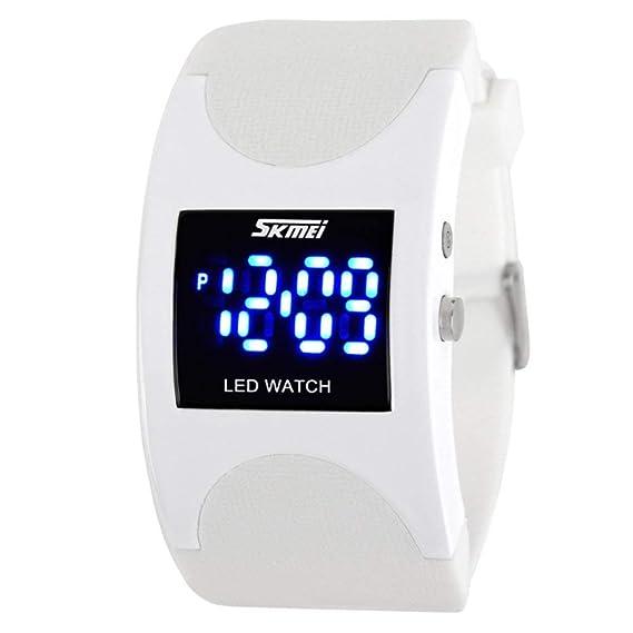 Reloj de Pulsera Deportivo Digital Rectangular único para Hombres y Mujeres: Amazon.es: Relojes