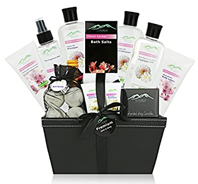 Premium Deluxe Bath & Body Gift Basket. Ultimate Large Spa Basket for Birthday Gifts Holiday Gift etc. #1 Spa Gift Basket for Women, & Teens!